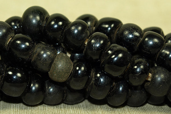"Antique Black Chinese ""Padre Beads"" from the 1800s"