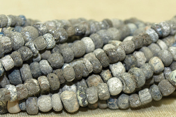 Ancient Roman Dig Beads, Grey