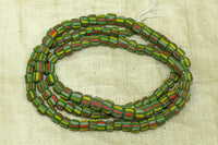 Strand of Green, Blue, Red, and Yellow Beads