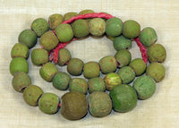 Strand of Chartreuse Majapahit Beads
