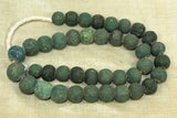Strand of Wonderful Teal Majapahit Beads