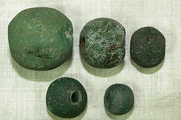 Set of Rare Majapahit Glass Beads