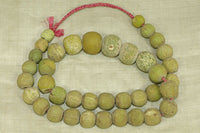Strand of light Chartreuse Majapahit beads