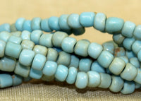 Vintage 1970s Turquoise Glass Beads from Indonesia