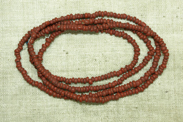 Small Ancient Brick Red Tradewind Beads