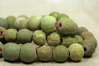Strand of Small Chartreuse Majapahit Beads
