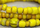 Vintage 1970s Yellow Glass Beads from Indonesia