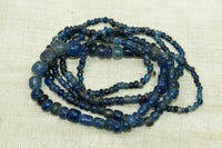 Ancient Cambodian Glass Beads, Blue