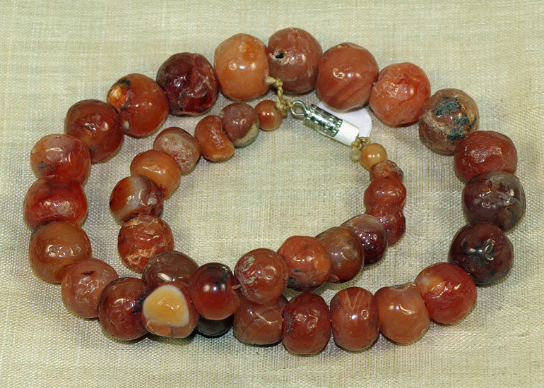 Hand-Carved Carnelian Choker from the Lou Zeldis Collection