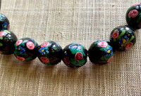 Small Black Venetian Beads, Wedding Cake