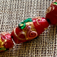 Small Red Venetian Beads, Wedding Cake