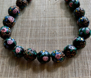 13mm Black Venetian Beads, Wedding Cake