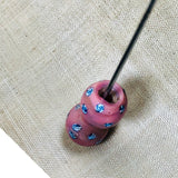 Pair of Venetian Pink Eye beads