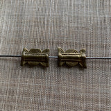 Traditional Pair of Antique Baule Brass Beads