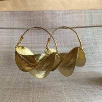 Fulani Brass Earrings, Med- Large