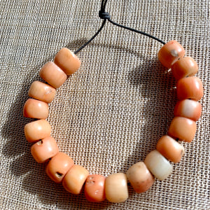 Antique Angel Skin Coral Beads