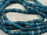 Ancient Dark Aqua Blue Tradewind Glass Beads
