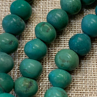 Afghan Turquoise Roundish Beads