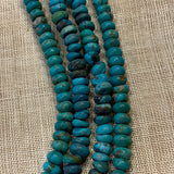 Afghan Turquoise Small Rondelle Beads