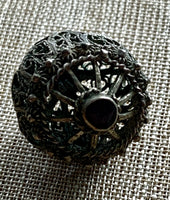 Detailed Filigree Bauble with Garnet, India