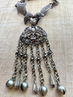 Antique Chinese Silver Necklace, Moth