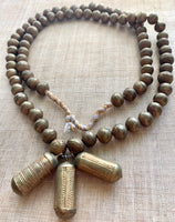 10mm Round Yoruba  Brass Beads, Strand