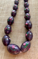 Graduated Vintage Czech Glass Necklace