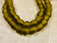 10mm Olive Recycled Glass from Ghana