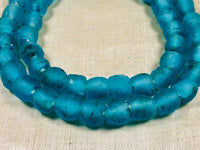 Bright Aqua Recycled Glass Beads
