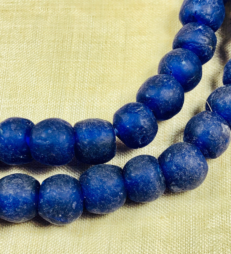 10mm Cobalt Recycled Glass