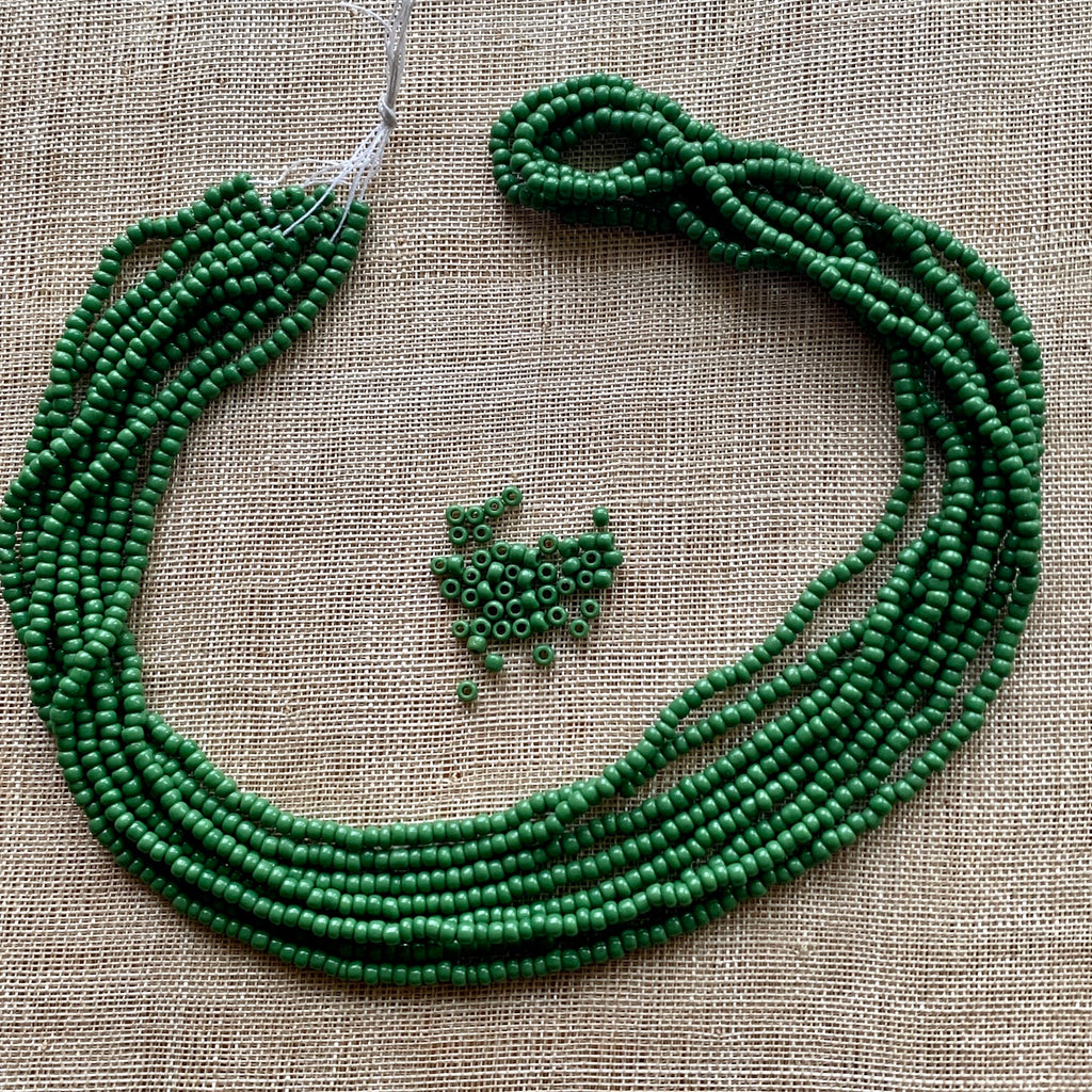 11º Opaque Olive Green Seed Beads