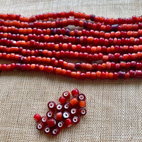 6º Mixed White Heart Seed Beads