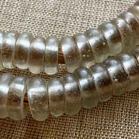 Antique Clear Dogon Donut Beads