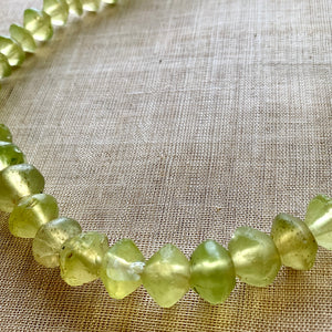 Greasy-Green Jonquil Vaseline Beads