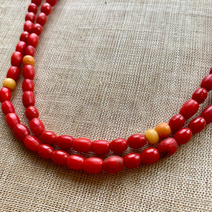 Antique Czech Red Beads