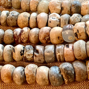 Ancient Quartz Crystal & Jasper Beads, Sudan