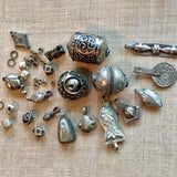 Grab Bag of Vintage Silver Beads