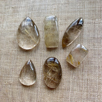 Golden Rutilated Quartz Cabs