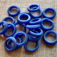 Cornflower Blue Glass Rings