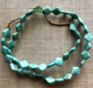 Opaque Seafoam Glass Diamond Shape