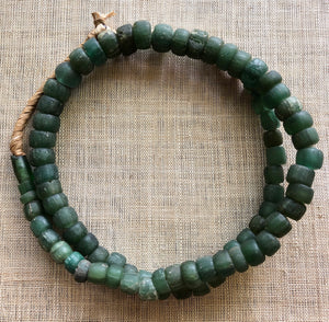 Green Hebron Beads from Sudan