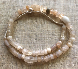 Ancient Quartz Crystal Beads from Sudan