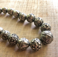 Yemen Silver Bead Necklace