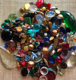 Vintage Rhinestone Glass Stone Mix