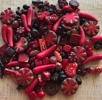 Special Red Czech Glass Mix