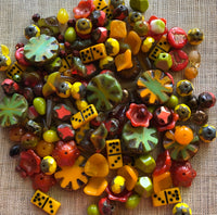 Special Yellow/Orange Czech Glass Mix