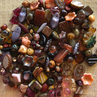 Special Brown/Pink and Purple Czech Glass Mix