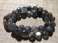 Faceted Labradorite Coins