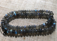 6mm Labradorite Faceted Rondelles