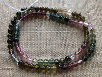 4mm Smooth Round Tourmaline, Strand